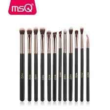 details about msq 12pcs pro eyeshadow brow makeup brush set blending shader eyeliner lip tools