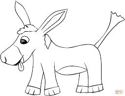 Small Picture Cartoon Donkey coloring page Free Printable Coloring Pages