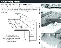 fabulous concrete countertop forms countertop concrete countertop edge forms home depot