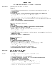 Warehouse Associate Resume Sample Magnificent Sample Receiving Associate Resume About Warehouse 87