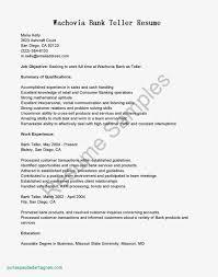 Bank Teller Resume Objective Best Of Sample Resume Objective