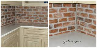 ... Fascinating Image Of Painting Faux Bricks For Home Interior Wall  Decoration : Fetching Small Kitchen Decoration ...