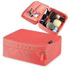 Zodaca Women Coral Travel Cosmetic Bag Makeup Case Toiletry Organizer Pouch  - Free Shipping On Orders Over $45 - Overstock.com - 18062551