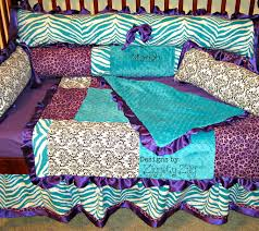 attractive teal and purple bedding turquoise forter western purple and teal crib bedding