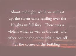 Bad Weather On The Night Of Heathcliffs Disappearance Wuthering