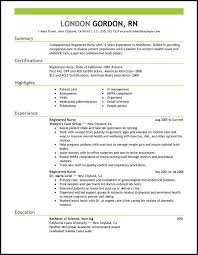 Best Nursing Resume Template Resume Sample