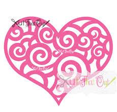 Scroll Heart Scroll Heart Svg Dxf Cut File