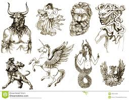 all greek mythology creatures creatures on an old sheet of all greek mythology creatures creatures on an old sheet of paper