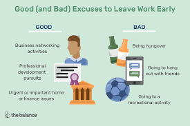 Work home business hours image Boss The Balance 2018 Udemy Reasons To Leave Work Early good And Bad Excuses