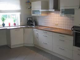 stunning küche weiß arbeitsplatte holz gallery home design ideas
