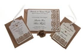 kraft card laser cut wedding invitations, floral cut x 25 Wedding Invite Size Uk brown kraft card laser cut wedding invitations, floral cut x 25, available from razzle dazzle rose wedding invite size uk