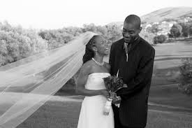 black and white wedding photo of an african american couple san Wedding Blog African American black and white photo of black bride and groom wedding blog african american