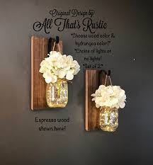 rustic home decor home living set of 2 hanging mason jar