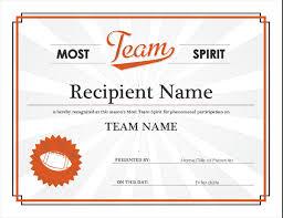 Teamwork Certificate Templates Team Spirit Award Certificate
