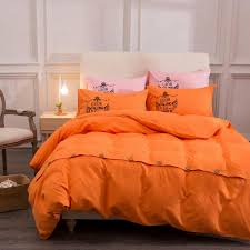 solid color bedding sets with on reactive printing 4pcs queen size home textile bedclothes bed linen