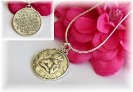 guardian angel medallion necklace