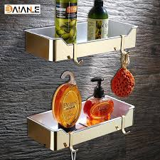 brushed nickel shower caddy wall mount stainless steel abs plastic gold bathroom shelves brushed nickel rectangle