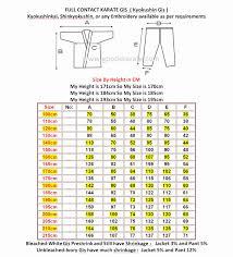 49 Proper Karate Gi Sizing Chart