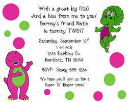 barney party invitation template barney birthday invitation templates 1000 images about barney