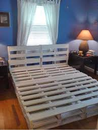 Bed Frame Made From Pallets 16 Gorgeous Diy Bed Frames The Budget Decorator  Design