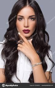 depositphotos 221206470 stock photo beauty fashion brunette face jpg