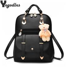 <b>Backpack</b> Female Schoolbag Pu Leather Promotion-Shop for ...