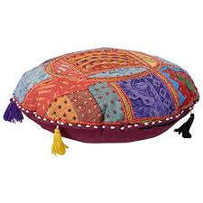 ethnic floor cushions. Exellent Ethnic Jewel Fab Art Vintage Banjara Multicolour Ethnic Handmade Outstanding Floor  Cushions Boho Patchwork Gypsy Mirror Work Embroidered Round Cushion Cover Inside N