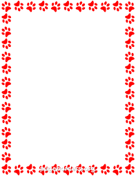 Red Paw Print Border Clip Art Page Border And Vector Graphics