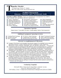 Resume Resume Samples Professional Facilities Manager Sample