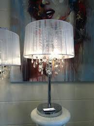chandelier table lamp large shabby chic white thread crystal table lamp chandelier chandelier table lamp uk