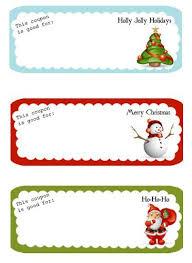 Free Printable Holiday Coupons Gift Ideas Pinterest Christmas