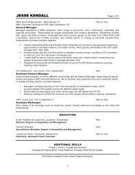 Restaurant Manager Resume Template Fascinating Sample Of Restaurant Manager Resume Restaurant Manager Resume Sample
