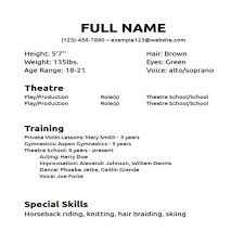 Professional Resume Template Google Docs Format Of Sample Theatre