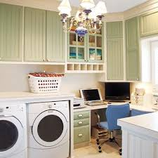 Laundry office Mud Room Than Dedicating Guest Room Or Portion Of The Kitchen To Bill Paying And Web Surfing Spacious Laundry Area Becomes Host To Handsome Home Office Pinterest 27 Ideas For Fully Loaded Laundry Room Laundry Room Design