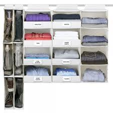 g u s no sag hanging essential 4 shelf closet organizer