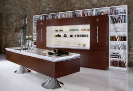 Creative Small Kitchen Creative Small Kitchen Design Ideas With Brown Cabinet And White