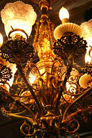 8 arm gas electric ornate victorian light fixture everything about this light fixture