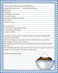Full Page Recipe Templates Full Page Recipe Template For Word Atlantaauctionco Com