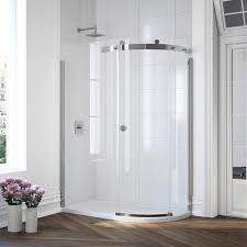 photo of merlyn 10 series 1 door offset quadrant shower enclosure