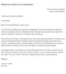 Recommendation Letter For Employee Template Example Of Reference Letter From Employer Emmaplays Co