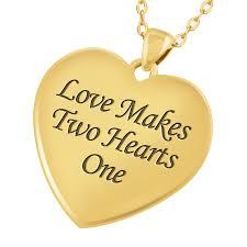 love makes two hearts one diamond pendant back