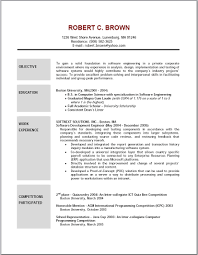 Samples Of Resume Objectives Resume Templates