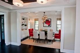 parsons dining chairs with mount ceiling lights dining room transitional and red chairs