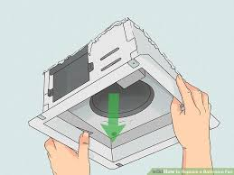 Installing Bathroom Fan Adorable How To Replace A Bathroom Fan With Pictures WikiHow
