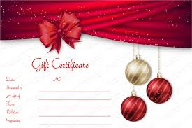 gift card template 5 awesome christmas gift certificate templates to end 2017 for
