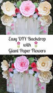 diy paper flowers easy paper flower backdrop assembly how to make a paper flower