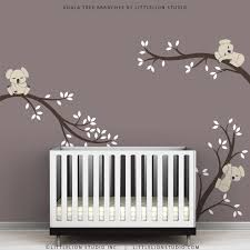 kids wall decals modern cute baby room tree wall by