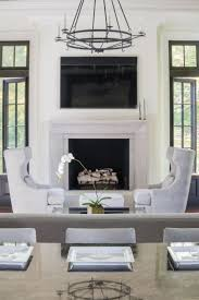 ... Best Tv Over Fireplace Ideas Above Classic Luxury Home Design New  Construction Family Room Large Chandelier ...