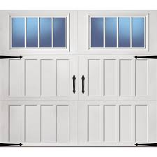 pella carriage house 108 in x 84 in insulated white single garage door with