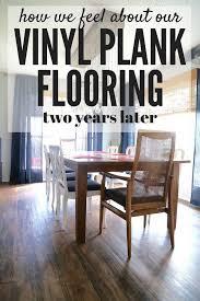 vinyl plank flooring 2 years later